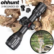Ohhunt 3-9X32 AO/IR Riflescope, Mil Dot Reticle and Locking Turrets + Sunshade
