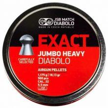 JSB Match Diabolo Exact JumboHeavy .22 CAL, 18.13Gr. – 500CT