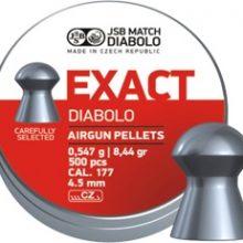 JSB MATCH DIABOLO EXACT .177 CAL, 8.44GR