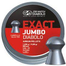 JSB MATCH DIABOLO EXACT .22 CAL, 15.89GR – 500CT