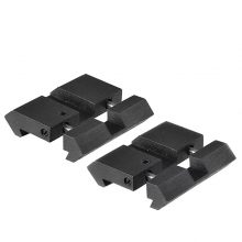 2PCS/Lot Dovetail To Weaver Picatinny Base Snap in Rail Adapter 11mm to 22mm Low Profile Adapter
