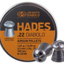 JSB Hades .22 cal. Pellets 15.9gr Hollowpoint 500ct